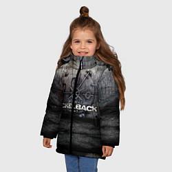 Куртка зимняя для девочки Nickelback Repository цвета 3D-черный — фото 2