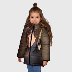 Куртка зимняя для девочки Бенедикт Камбербэтч 1 цвета 3D-черный — фото 2