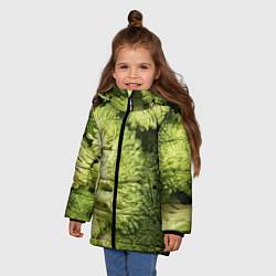 Куртка зимняя для девочки Брокколи цвета 3D-черный — фото 2