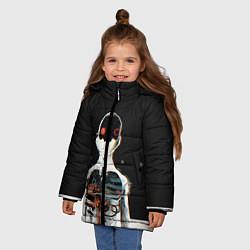 Куртка зимняя для девочки Three Days Grace: Skeleton цвета 3D-черный — фото 2