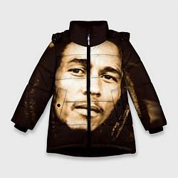 Куртка зимняя для девочки Взгляд Боба Марли цвета 3D-черный — фото 1