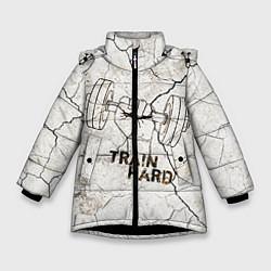 Зимняя куртка для девочки Train hard