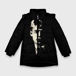 Зимняя куртка для девочки Есенин Ч/Б