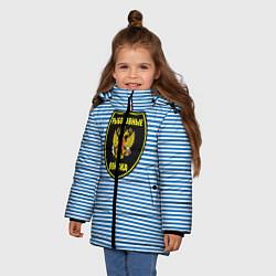 Куртка зимняя для девочки Рыболовные войска цвета 3D-черный — фото 2