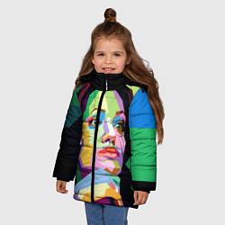 Куртка зимняя для девочки Angelina Jolie: Art цвета 3D-черный — фото 2
