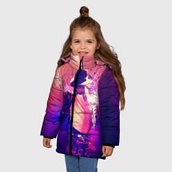 Куртка зимняя для девочки Michael Jackson: Moon цвета 3D-черный — фото 2