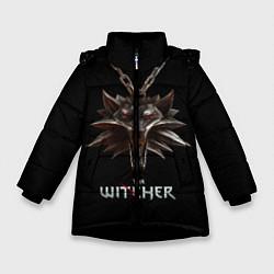 Детская зимняя куртка для девочки с принтом The Witcher, цвет: 3D-черный, артикул: 10084813706065 — фото 1
