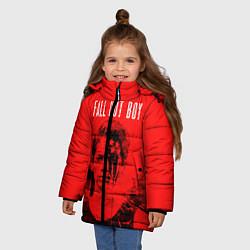 Куртка зимняя для девочки FOB: Red USA цвета 3D-черный — фото 2