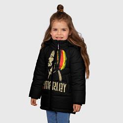 Куртка зимняя для девочки Bob Marley цвета 3D-черный — фото 2