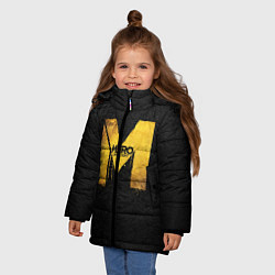 Детская зимняя куртка для девочки с принтом Metro: Last Light, цвет: 3D-черный, артикул: 10088873906065 — фото 2