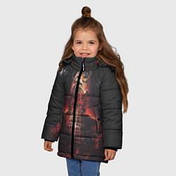 Куртка зимняя для девочки Oxxxymiron: Горгород цвета 3D-черный — фото 2