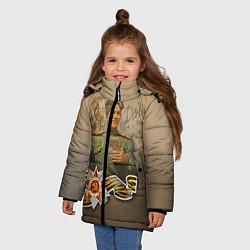 Куртка зимняя для девочки Дошли цвета 3D-черный — фото 2