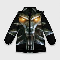 Куртка зимняя для девочки Волк цвета 3D-черный — фото 1