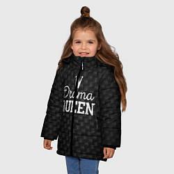 Куртка зимняя для девочки Drama queen цвета 3D-черный — фото 2