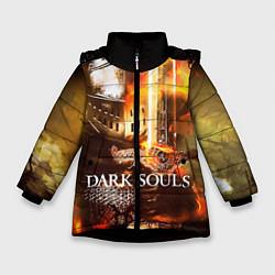 Куртка зимняя для девочки Dark Souls War цвета 3D-черный — фото 1