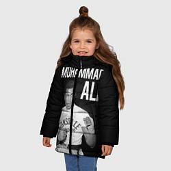 Куртка зимняя для девочки Muhammad Ali цвета 3D-черный — фото 2