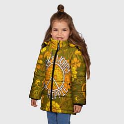 Куртка зимняя для девочки Хиппи 4 цвета 3D-черный — фото 2