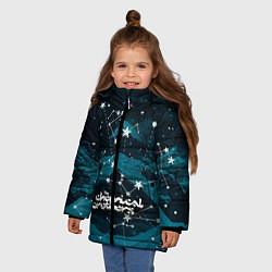 Куртка зимняя для девочки Chemical Brothers: Space цвета 3D-черный — фото 2