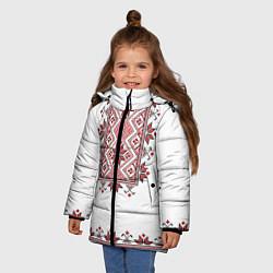 Куртка зимняя для девочки Вышивка 41 цвета 3D-черный — фото 2