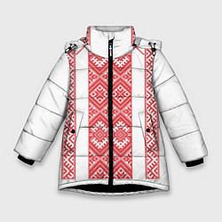 Куртка зимняя для девочки Вышивка 46 цвета 3D-черный — фото 1