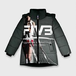 Куртка зимняя для девочки Волейбол 80 цвета 3D-черный — фото 1