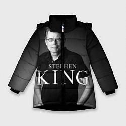 Детская зимняя куртка для девочки с принтом Стивен Кинг, цвет: 3D-черный, артикул: 10095786506065 — фото 1