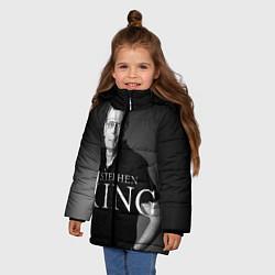 Куртка зимняя для девочки Стивен Кинг цвета 3D-черный — фото 2
