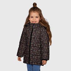 Детская зимняя куртка для девочки с принтом Унесённые призраками, цвет: 3D-черный, артикул: 10096214906065 — фото 2