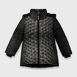 Куртка зимняя для девочки Черная кожа - фото 1