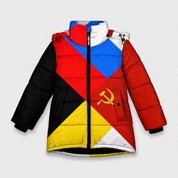 Куртка зимняя для девочки Вечная Россия цвета 3D-черный — фото 1