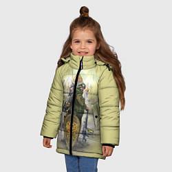 Детская зимняя куртка для девочки с принтом Имперская русь, цвет: 3D-черный, артикул: 10096755806065 — фото 2