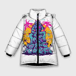 Куртка зимняя для девочки Hotline Miami: Throne цвета 3D-черный — фото 1