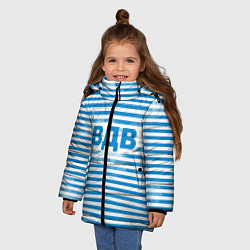 Детская зимняя куртка для девочки с принтом ВДВ, цвет: 3D-черный, артикул: 10098332606065 — фото 2