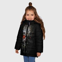 Куртка зимняя для девочки Terminator Skull цвета 3D-черный — фото 2