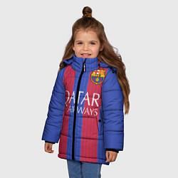 Куртка зимняя для девочки Barcelona: Qatar Airways цвета 3D-черный — фото 2
