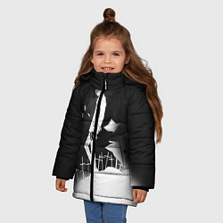 Куртка зимняя для девочки Тетрадь смерти 7 цвета 3D-черный — фото 2