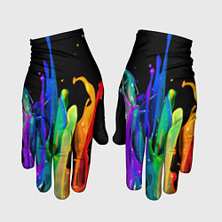 Перчатки Всплеск красок