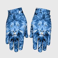 Перчатки Сине-бело-голубой лев