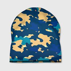 Шапка Камуфляж: голубой/желтый цвета 3D — фото 1