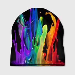 Шапка Всплеск красок цвета 3D — фото 1