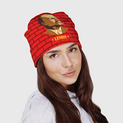Шапка Ленин: красная стена цвета 3D — фото 2