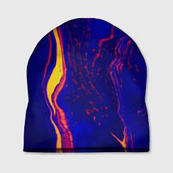 Шапка Ультрафиолетовые разводы цвета 3D — фото 1