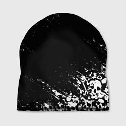 Шапка БЕЛЫЕ ЧЕРЕПА цвета 3D-принт — фото 1