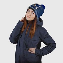 Шапка с помпоном Toronto Maple Leafs цвета 3D-тёмно-синий — фото 2