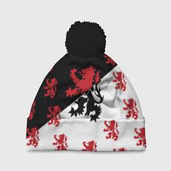 Шапка с помпоном Лев герба Нидерландов цвета 3D-черный — фото 1