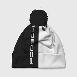 Шапка с помпоном Porsche Design цвета 3D-черный — фото 1