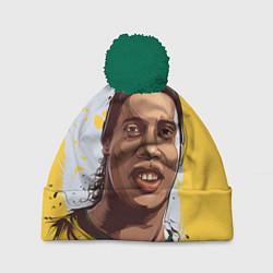 Шапка с помпоном Ronaldinho Art цвета 3D-зеленый — фото 1