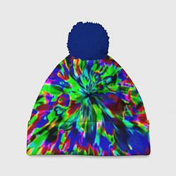Шапка с помпоном Оксид красок цвета 3D-тёмно-синий — фото 1