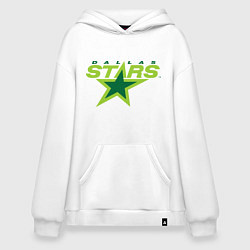 Толстовка-худи оверсайз Dallas Stars цвета белый — фото 1