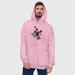 Толстовка-худи оверсайз Минни Маус цвета светло-розовый — фото 2